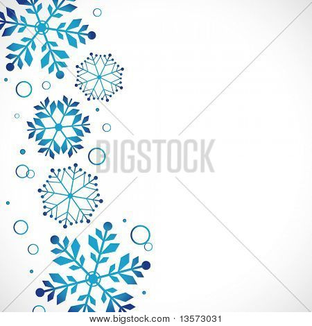snow background, vector illustration