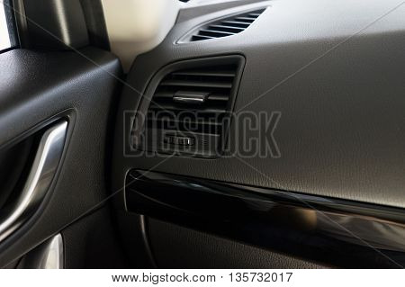 Air Conditioner Vent Grill In A Modern Car