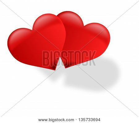 two hearts,  two  red  hearts , hearts