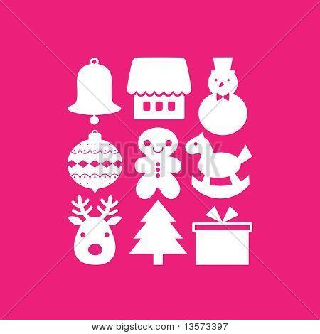 vector set of christmas icons