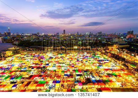 Tarad Rod Fai Weekend Market From Thailand