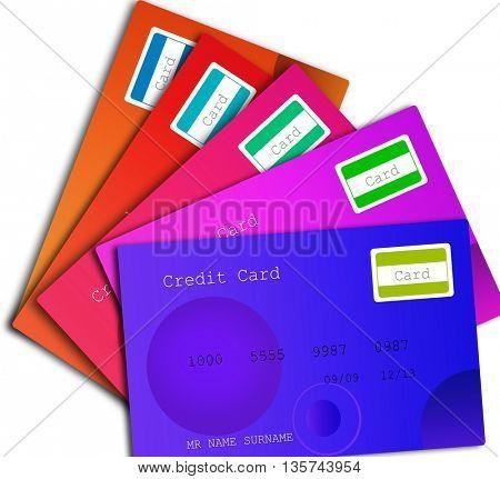 many credit card
