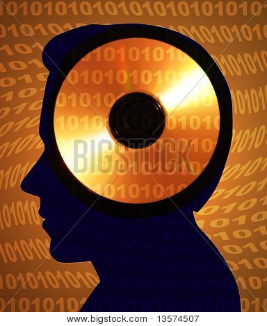 Am illustration representing memory poster