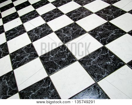 checkered abstract background in black and white showing