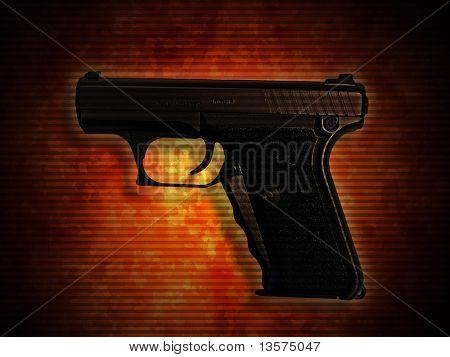 A photo of a 9mm handgun