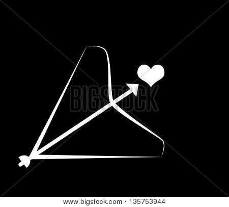 angels Bow and arrow with heart