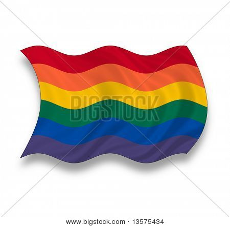 A gay pride flag