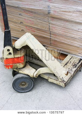 A photo of a pallet jack