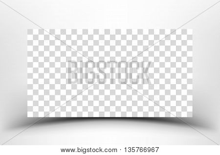 Space for your creativity. Empty place with shadow on a white background. Blank template on white background with soft shadows. Empty paper banner.