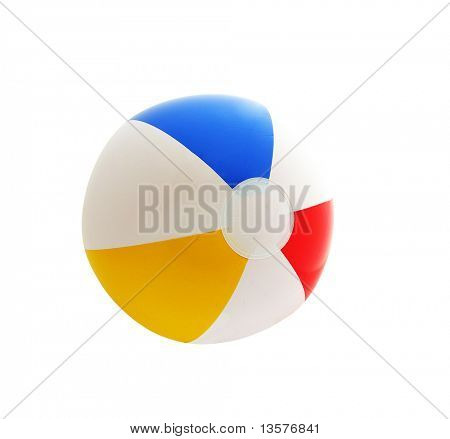 A photo of an isolated beach ball