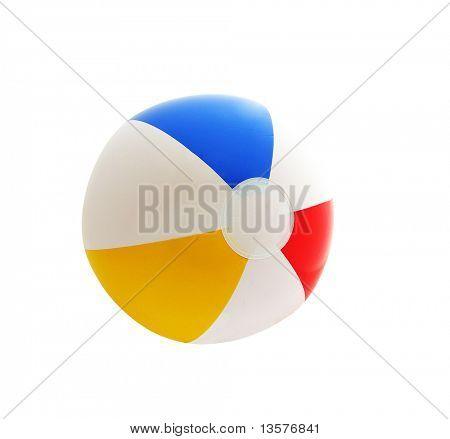 Фото из изолированной пляжный мяч