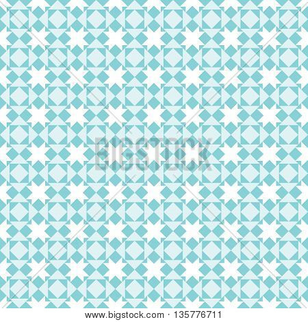 Square pattern in blue colors. Abstract background. Vector background. Vintage pattern. Retro pattern. Seamless vintage pattern. All in a single layer.