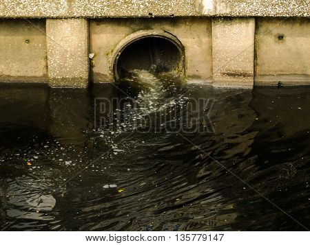 Black water pollution in the big city