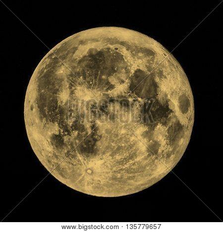 Full Moon Sepia