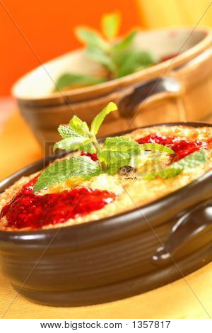 Casserole With Rice And Raspberry