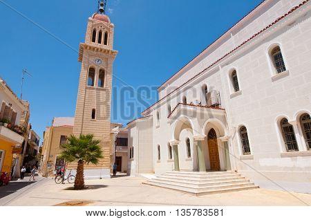 CRETERETHYMNO-JULY 23: Megalos Antonios church on July 232014 in Rethymnon city on the Crete island Greece.