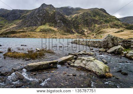 Y Garn overlooking Llyn Idwal, Ogwen Valley, Snowdonia