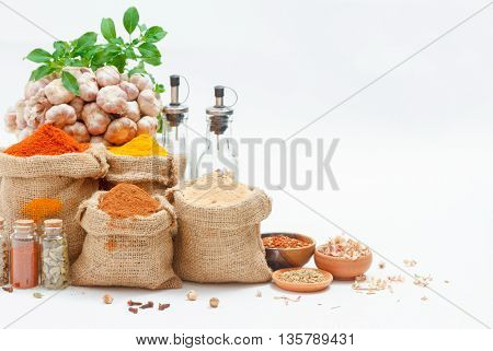 Spices And Herb For Cooking Or Decorate And Design,the  Spics And Herbs On White Background,spices C
