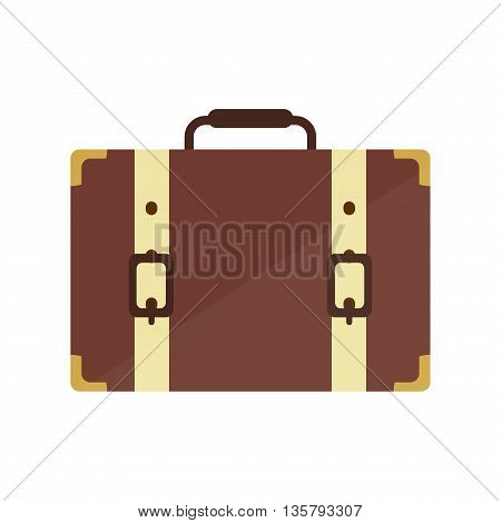 Travel Suitcase bag compass and world map. Travel bag luggage suitcase journey trip and travel bag case baggage. Luggage travel bag. Leather travel bag. Travel suitcase and vector travel hand bag.