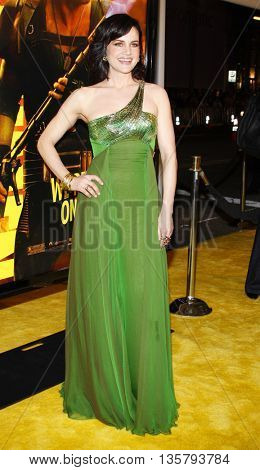 Carla Gugino at the Los Angeles premiere of 'Watchmen' held at the Grauman's Chinese Theater in Hollywood, USA on March 3, 2009.