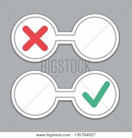 Negative and Positive feedback concept. Stock vector. Vector illustration.