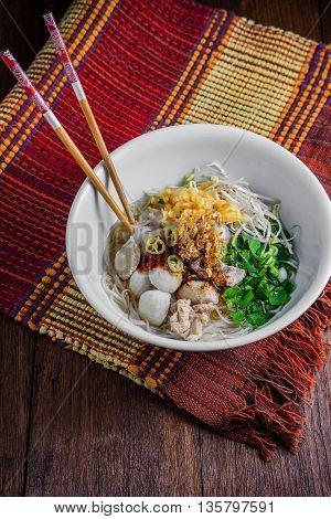 Bowl Of Asian Noodles