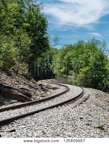 Old Railway Track At High Falls Of Cheat