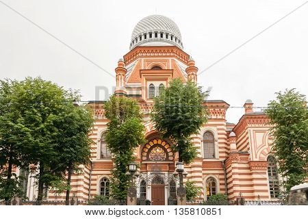 Grand Choral Synagogue in Lermontov Prospekt St. Petersburg built in oriental Moorish style.