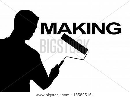 making. Painting you start you start work you can work here work