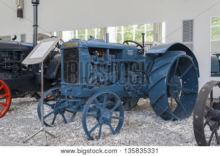 """Tractor """"fordson Putilovets"""" At The Museum Of Tractors. City Cheboksary, Chuvash Republic,"""