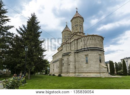 Trei Ierarhi or The Three Holy Hierarhs, monastery Iasi. Is dating from the XVIIth century, built during Vasile Lupu's reign. The monument is famous for its embroidery in stone , most of it preserved in its original form