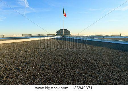 Italian Flag On Blue Sky