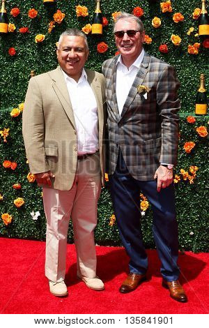 JERSEY CITY, NJ - MAY 30: Jimmy Clerkin (R) and Manny Gonzalez attend the 8th Annual Veuve Clicquot Polo Classic at Liberty State Park on May 30, 2015 in Jersey  City, New Jersey.
