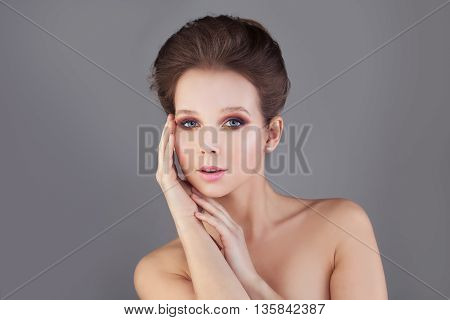 Perfect Woman. Healthy Skin and Hair. Spa Concept