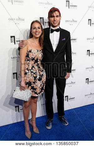 NEW YORK, NY - MAY 18: Samantha Freedman and Internet personality Jake Roper from the VSauce Channels attend the 19th Annual Webby Awards at Cipriani Wall Street on May 18, 2015 in New York City.