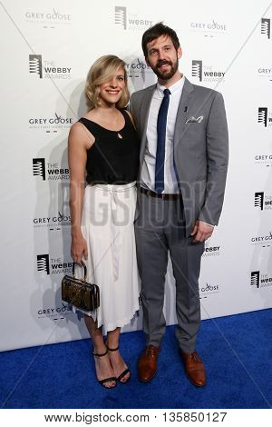 NEW YORK, NY - MAY 18: Allison Kurtzer and musician Rob Cantor attend the 19th Annual Webby Awards at Cipriani Wall Street on May 18, 2015 in New York City.
