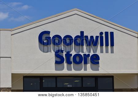 Indianapolis - Circa June 2016: A Goodwill Store. In 2015 Goodwill helped more than 26.4 million people train for careers I