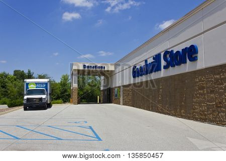Indianapolis - Circa June 2016: A Goodwill Store. In 2015 Goodwill helped more than 26.4 million people train for careers III