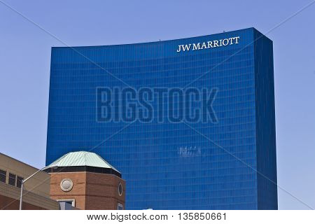 Indianapolis - Circa June 2016: Downtown JW Marriott Hotel. The JW Marriott is a Worldwide Chain of Luxury Hotels III