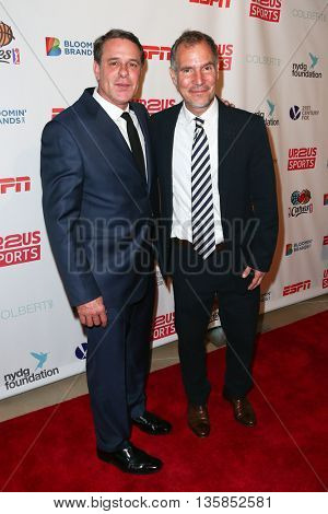 Founder/head physician New York Dermatology Group David Colbert, MD (L) and Founder/CEO of Up2Us Sports Paul Caccamo attend the 2015 Up2Us Sports Gala at IAC Building on June 3, 2015 in New York City.