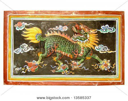 Ancient dragon sculpture.