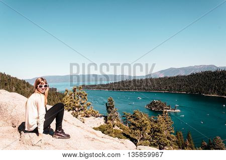 Photo of Girl near Lake Tahoe California
