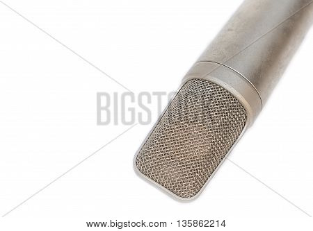 microphone, condenser mic on white background .