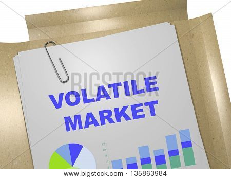 Volatile Market Business Concept