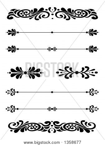 Ornamental Bar Line Divider Rule 8