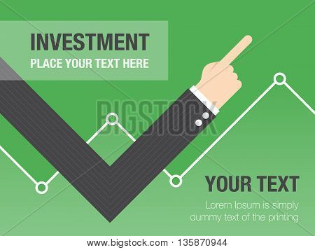 Business growth concept background. Business concept flat illustration.