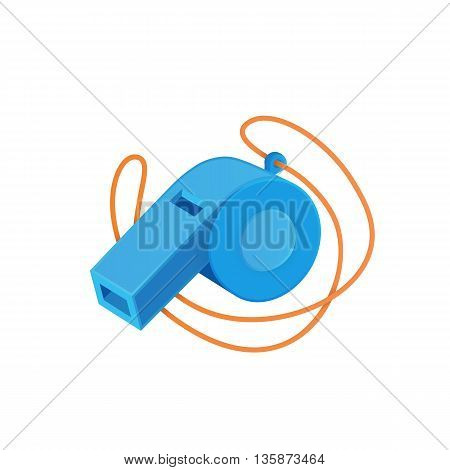 Referee whistle. Vector illustration easy to edit.