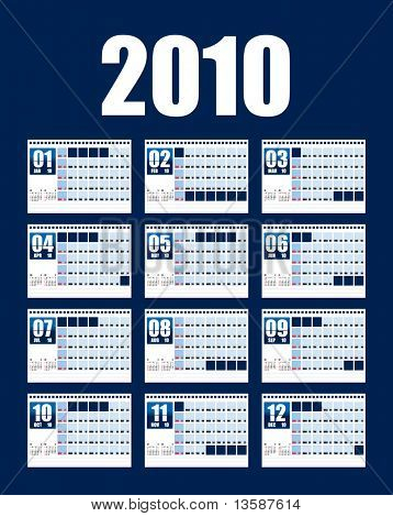 Table top calendar 2010