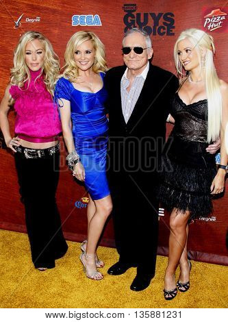 Kendra Wilkinson, Bridget Marquardt, Hugh Hefner and Holly Madison at the Spike TV's 2nd Annual