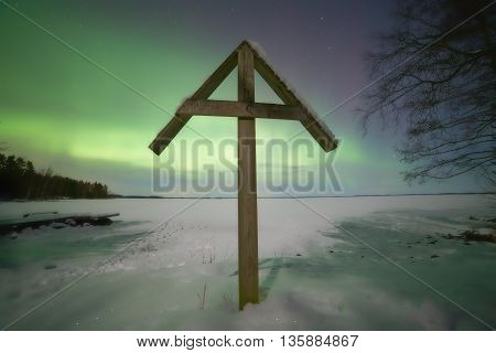 Northern Lights Scene